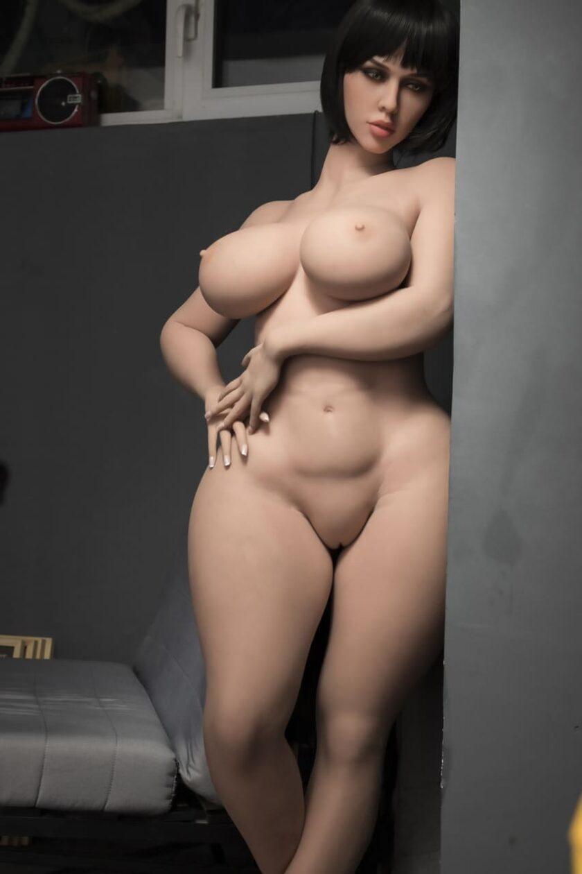 Реалистичная силиконовая кукла с большой грудью, вагиной