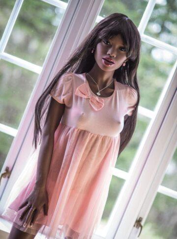 чернокожая реалистичная кукла для секса