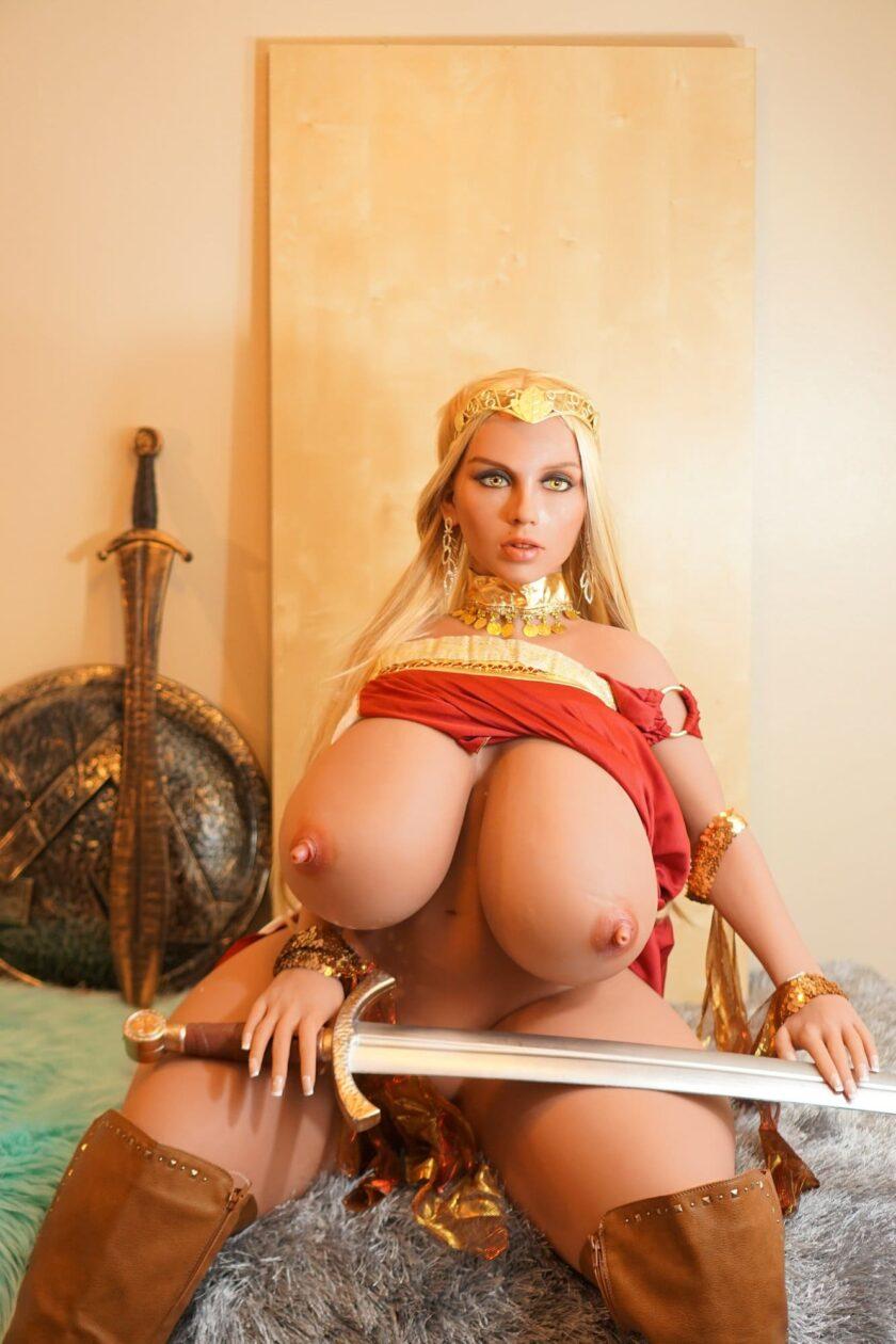 толстая секс-кукла с большой грудью