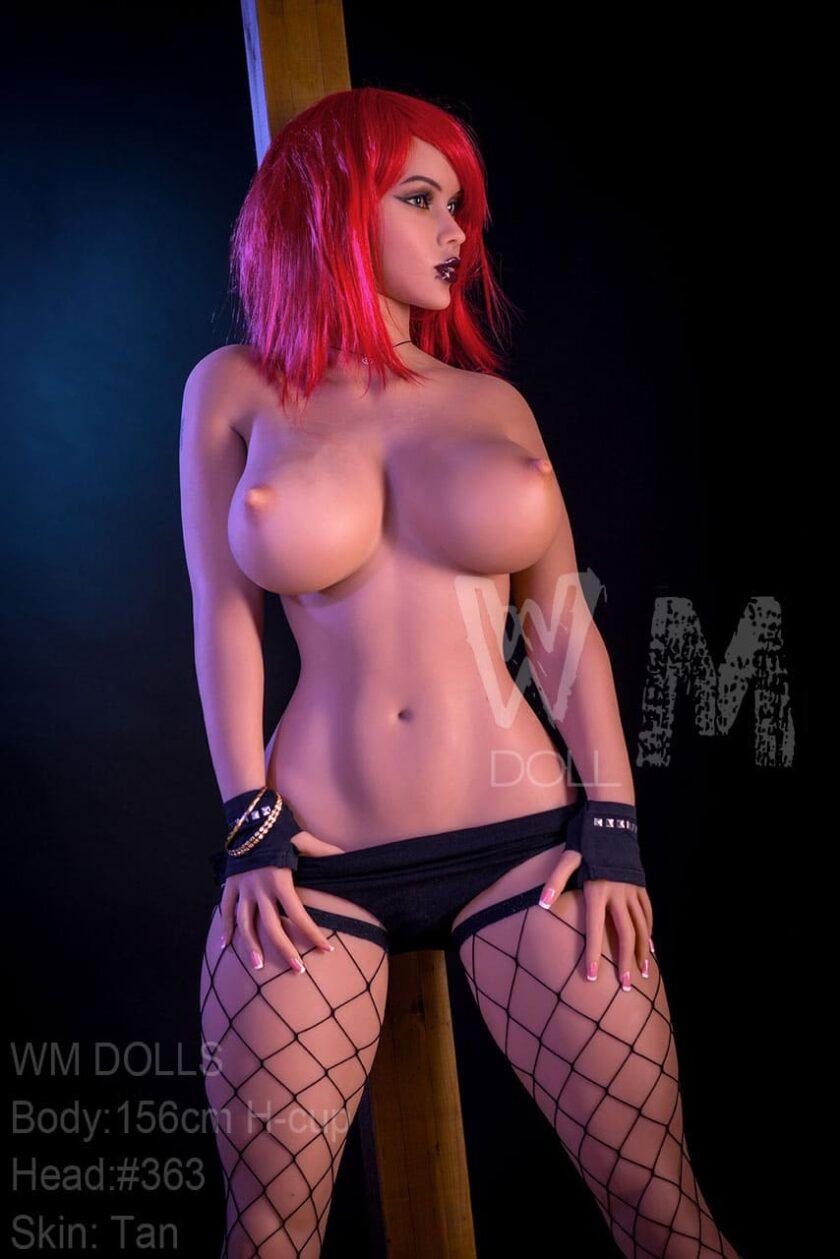 новая секс кукла Wm DOLL с красными волосами