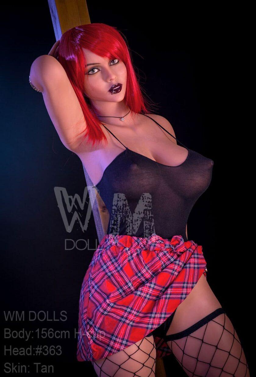 секс кукла с красными волосами