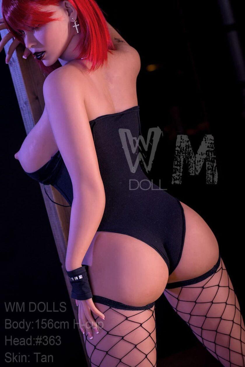 силиконовая кукла Wm DOLL с красными волосами