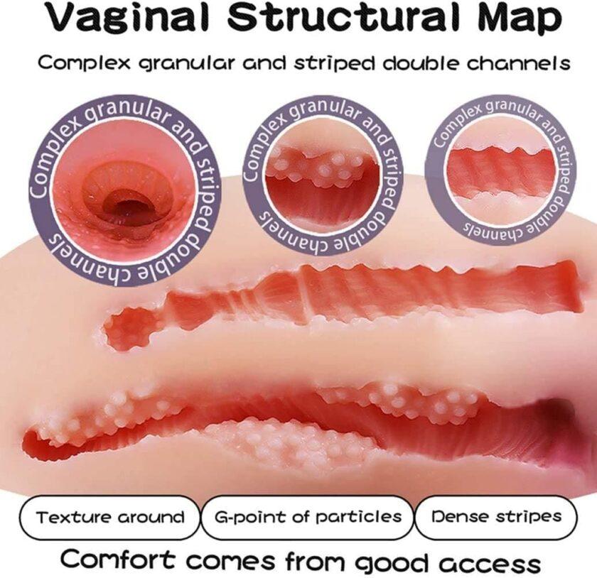 Резиновая грудь - секс игрушка для мужчин с отверстиями