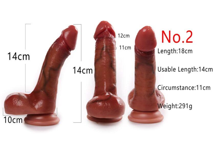 силиконовый пенис 14 см