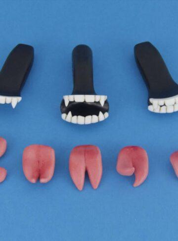 Набор для секс куклы WM Doll зубы и языки для вампиры